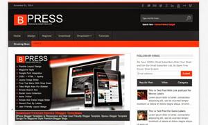 Bpress - Magazine Responsive SEO Blogger template