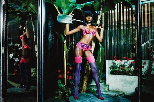 Concierge4Fashion  Naomi Campbell Plays Femme Fatale for Agent ... 2e7cb1a75