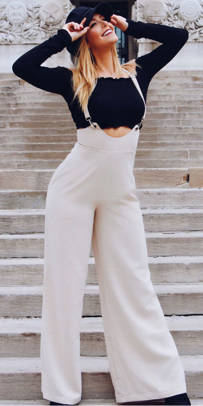white jumpsuit | From stylish jumpsuit to colorful jumpsuit, onepiece jumpsuit to strapless jumpsuit. Find 44 Insanely Cute Jumpsuit Outfits to Try Before Anyone in 2019. Jumpsuit Fashion and jumpsuit dress via higiggle.com #jumpsuit #outfits #style #fashion