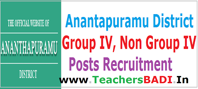 Anantapuramu District,Group IV, Non Group IV Posts Recruitment 2016
