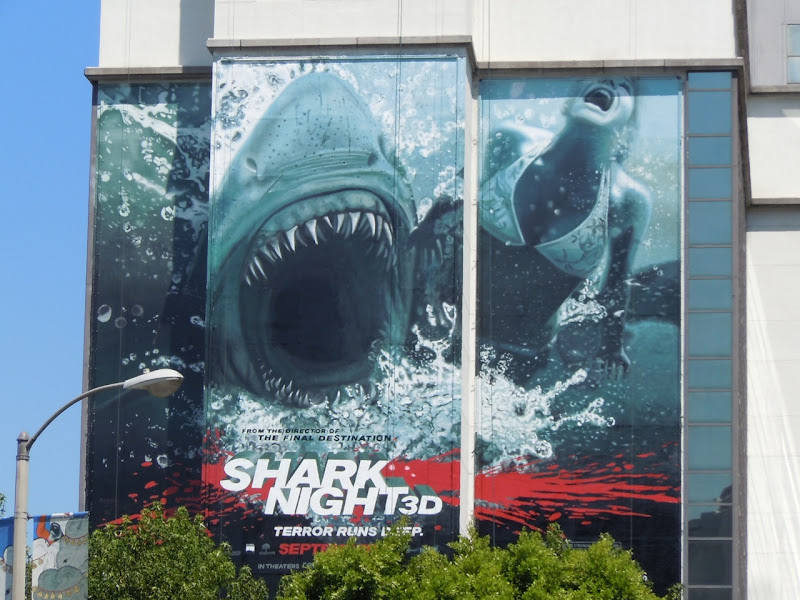 Shark Night 3D movie billboard