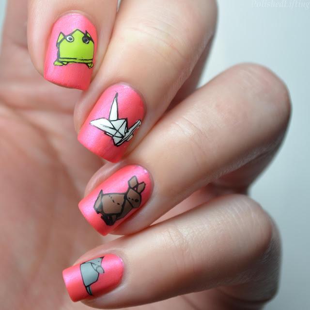 origami nail art