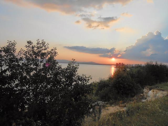 Закат на озере Иртяш