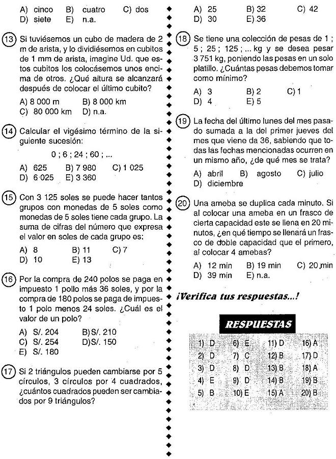 Test Logica Matematica 28 Images Videojuegos 191 Sabr 237 As