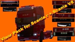 Visor Pack v1.5 mod for Scania R and Scania V8
