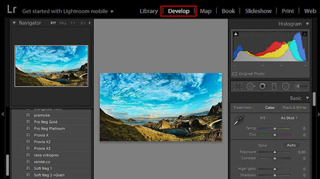 Adobe Lightroom Develope Module