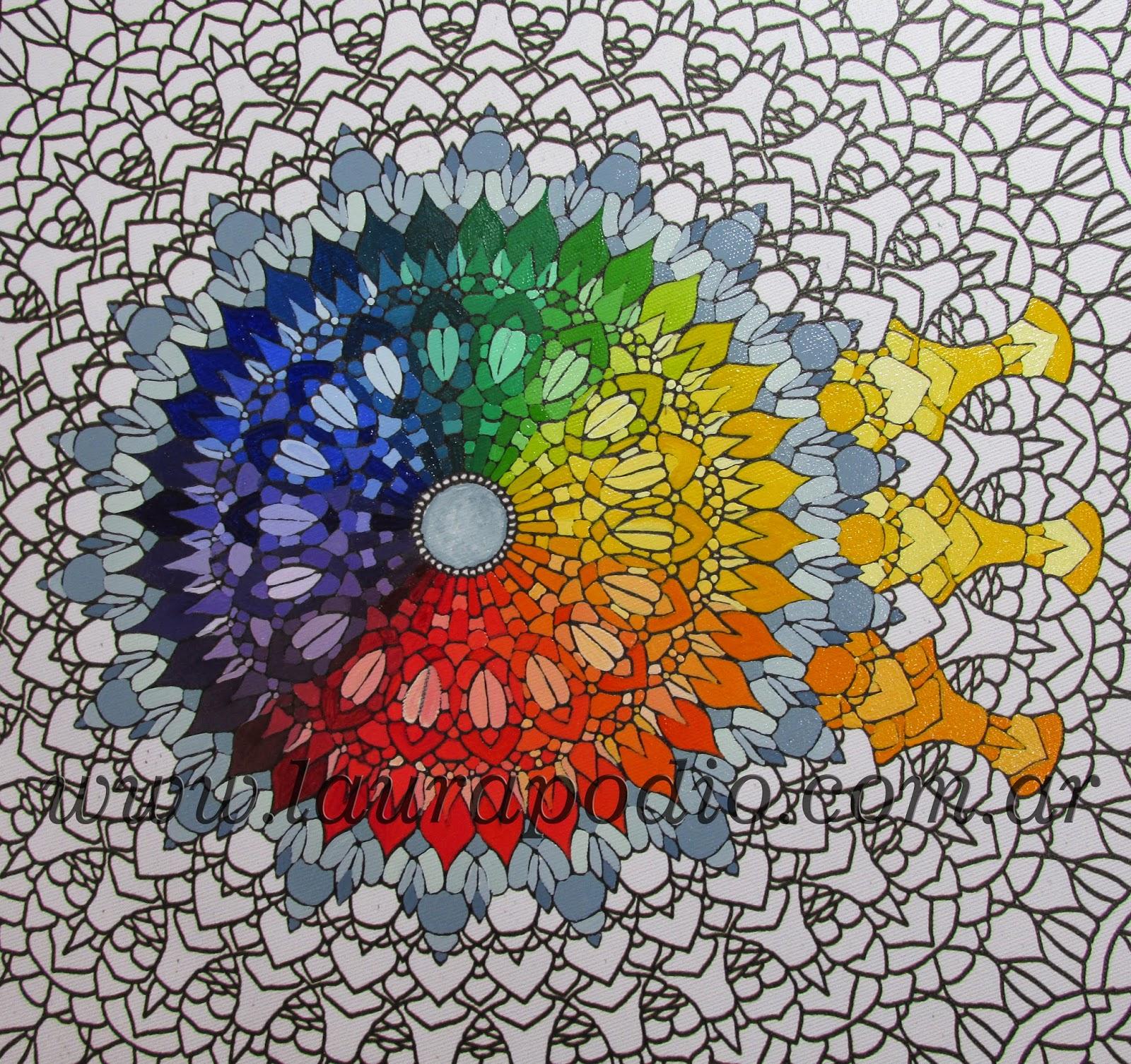 MANDALAS PASO A PASO un ejemplo de color  ARTE TERAPIA