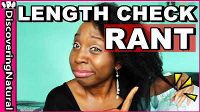 Natural Hair Length Check Rant | DiscoveringNatural