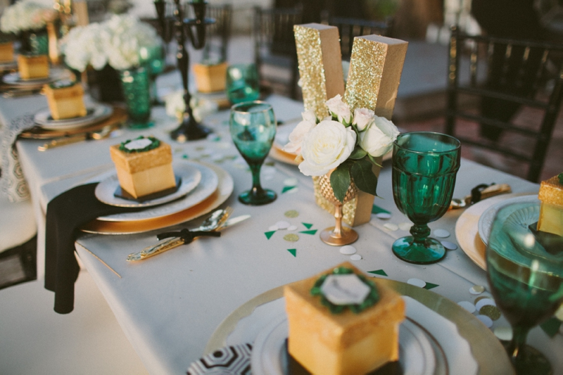 The Awesometastic Bridal Blog Green And Gold Party