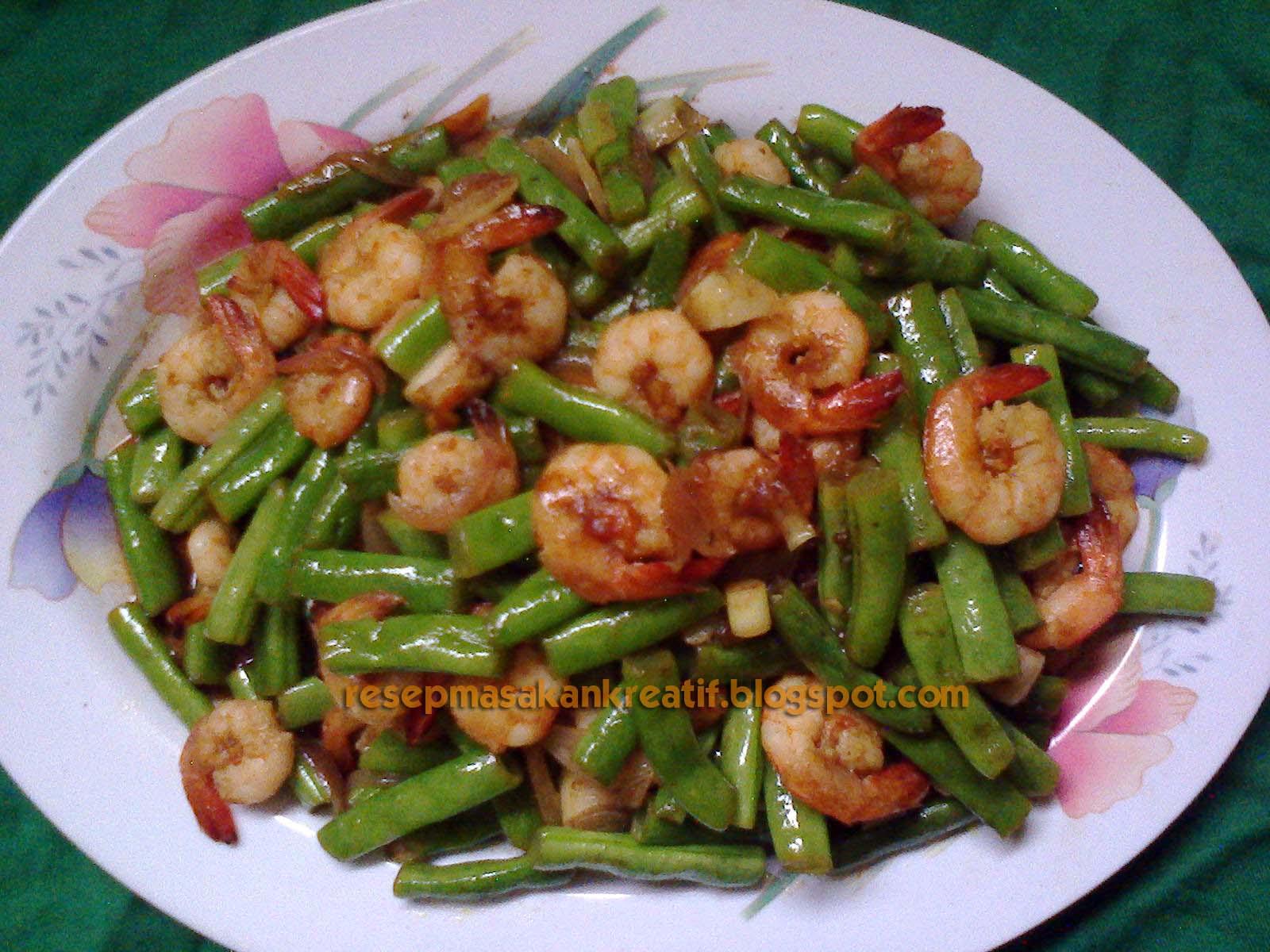 Resep Tumis Udang Sayur Buncis Aneka Resep Masakan Sederhana Kreatif