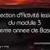 Correction d'Activité lexicale du module 3 - 8eme annee de base