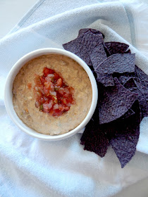 Slow Cooker Beef & Bean Dip...the easiest cheesy dip around!  Just dump and stir until melted through.  Cheesy, with taco flavor, topped with extra pico de gallo for good measure! (sweetandsavoryfood.com)