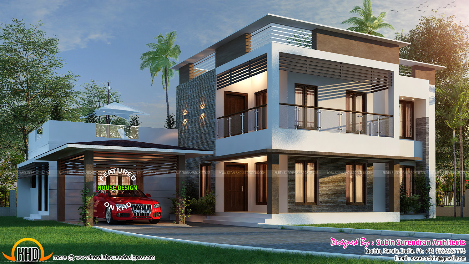 3116 sq ft home with 4 bhk kerala home design and floor for Four bhk bungalow plan