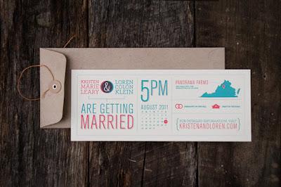 K L Wedding Invitation