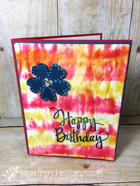 Tie Die on paper, Flower Shop, Stylized Birthday, Stampin'Up!, Frenchie Stamps,