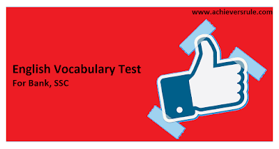 Test of English Word Power for IBPS PO - Set 7