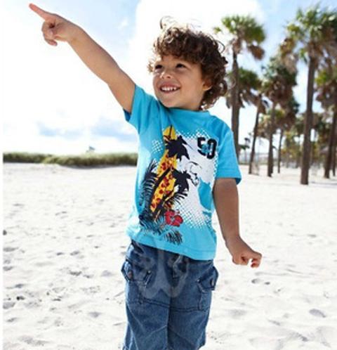 contoh baju pantai anak