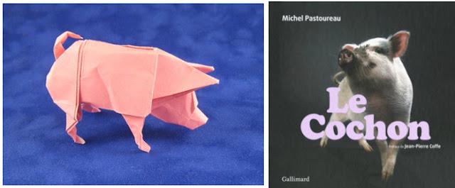 Origami de Ronald Koh - Le cochon, Michel Pastoureau