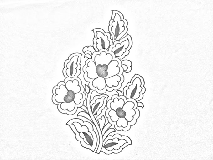 Flowers designs drawings for hand embroidery/draw an easy hand embroidery flower design