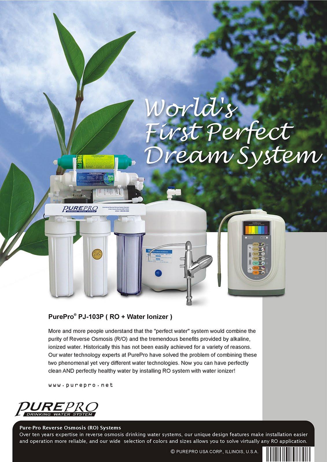美國 ERO 氫水機 PurePro® PJ-103P 完美水系統 : 頂尖科技的結合 - 美國PurePro®健康還原水
