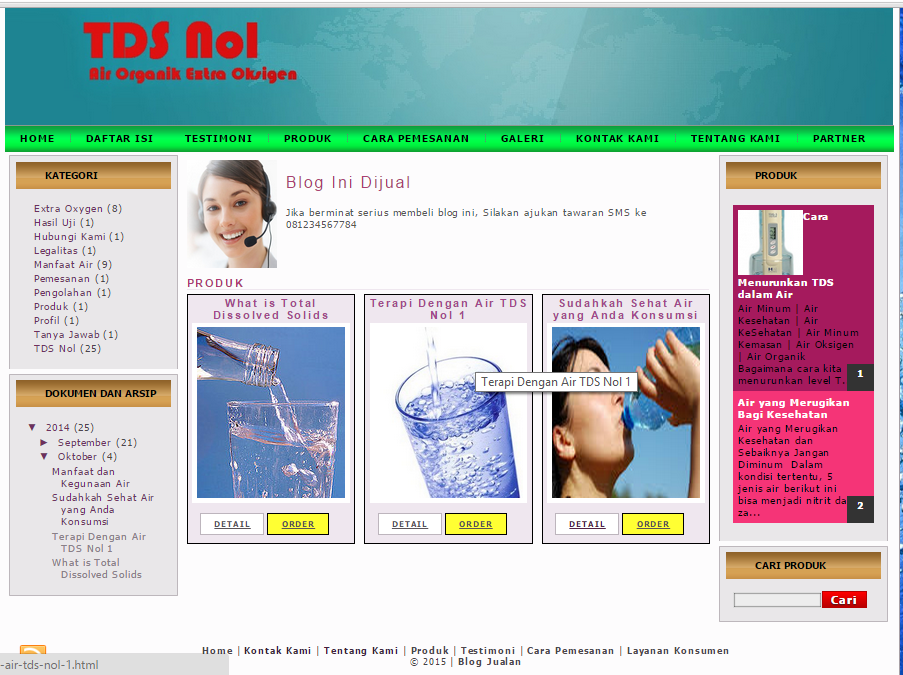 Template Blogger toko online store