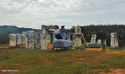 Foamhenge and Merlin