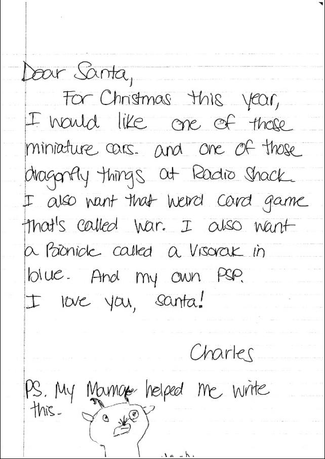 Write Santa A Letter