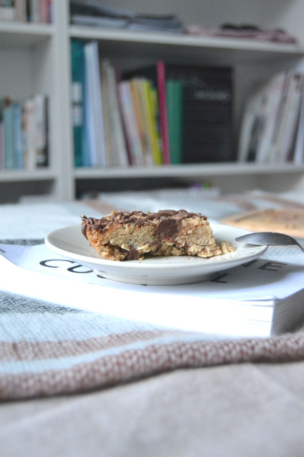 gluten free milk chocolate walnut flapjack recipe