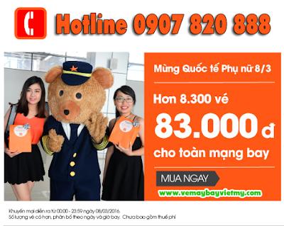 Jetstar khuyến mãi vé rẻ CHỈ 83.000 đồng đi Buôn Ma Thuột