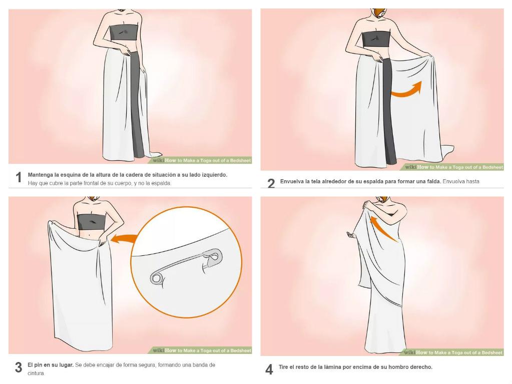 Disfraz casero de romano o romana con s bana - Como hacer una cachimba casera facil ...