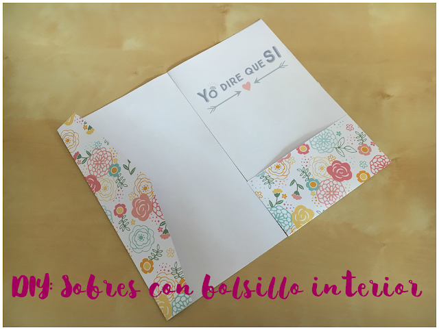 DIY: Sobres con bolsillo interior. Tutorial con plantilla descargable.