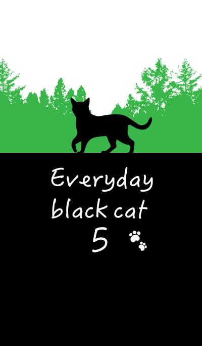 Everyday black cat5