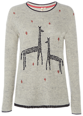 White Stuff Canter embroidered jumper