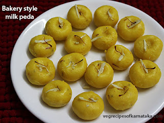 Bakery style peda recipe in Kannada