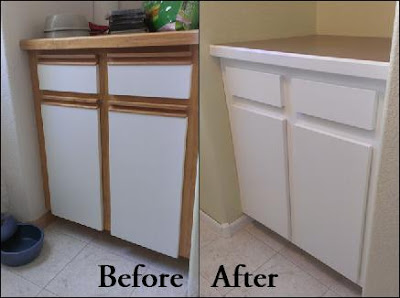 Magenta And Lime Updating Old Cabinets