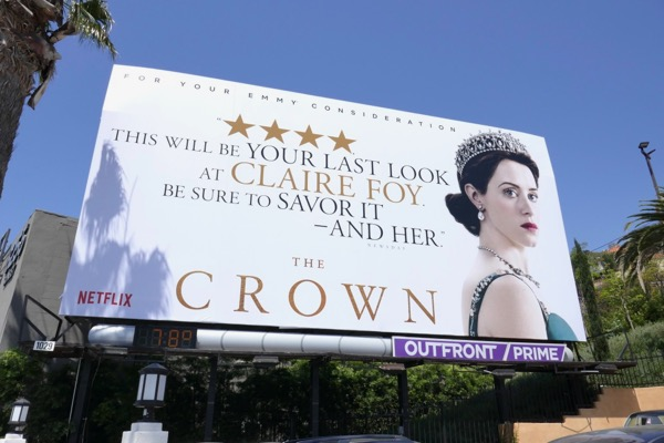 Crown Claire Foy 2018 Emmy FYC billboard