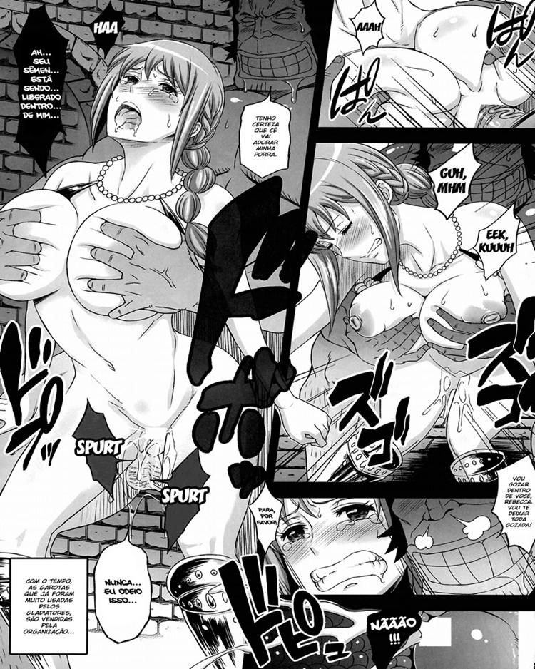 One Piece hentai - Batalhas no Coliseu Corrida