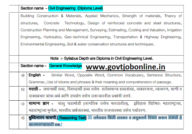 Mahapariksha Maharashtra SWC Water Conservation Officer Exam Pattern and Syllabus-WCO Jobs Admit Card