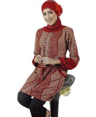 model baju batik modern hijab simpel