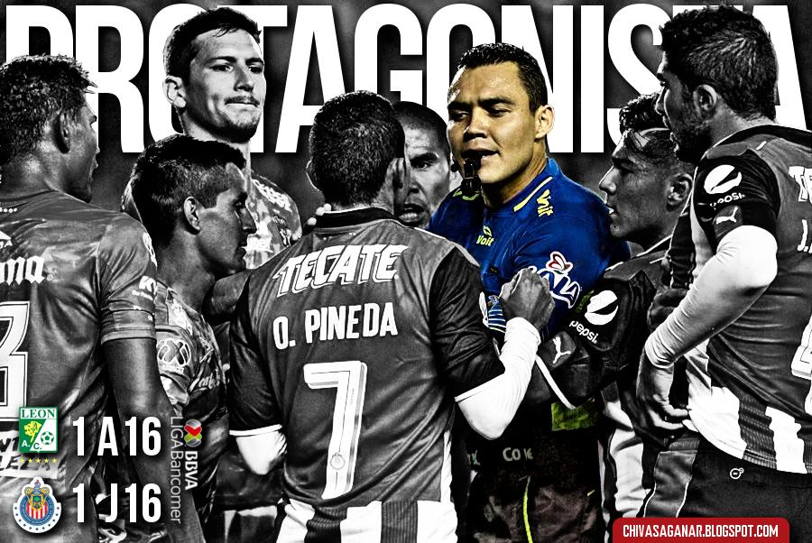 Liga MX : Club León 1-1 CD Guadalajara - Apertura 2016 - Jornada 16.