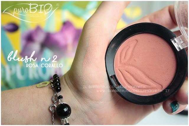 blush rosa corallo  purobio recensione review swatches