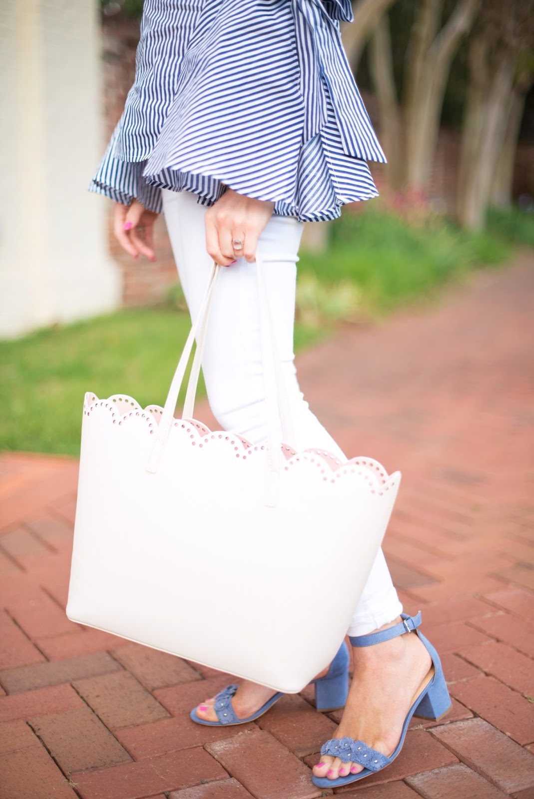 Under $50 Scallop Tote - See more on Something Delightful Blog