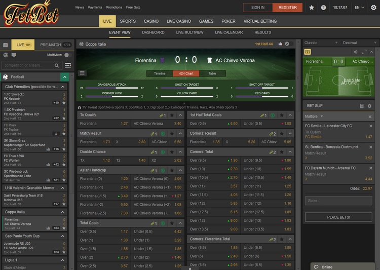 Fetbet Live Betting Offers
