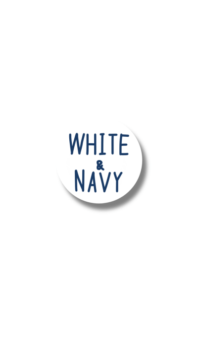 white and navy