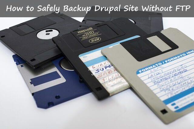 backup your drupal 8 without ftp