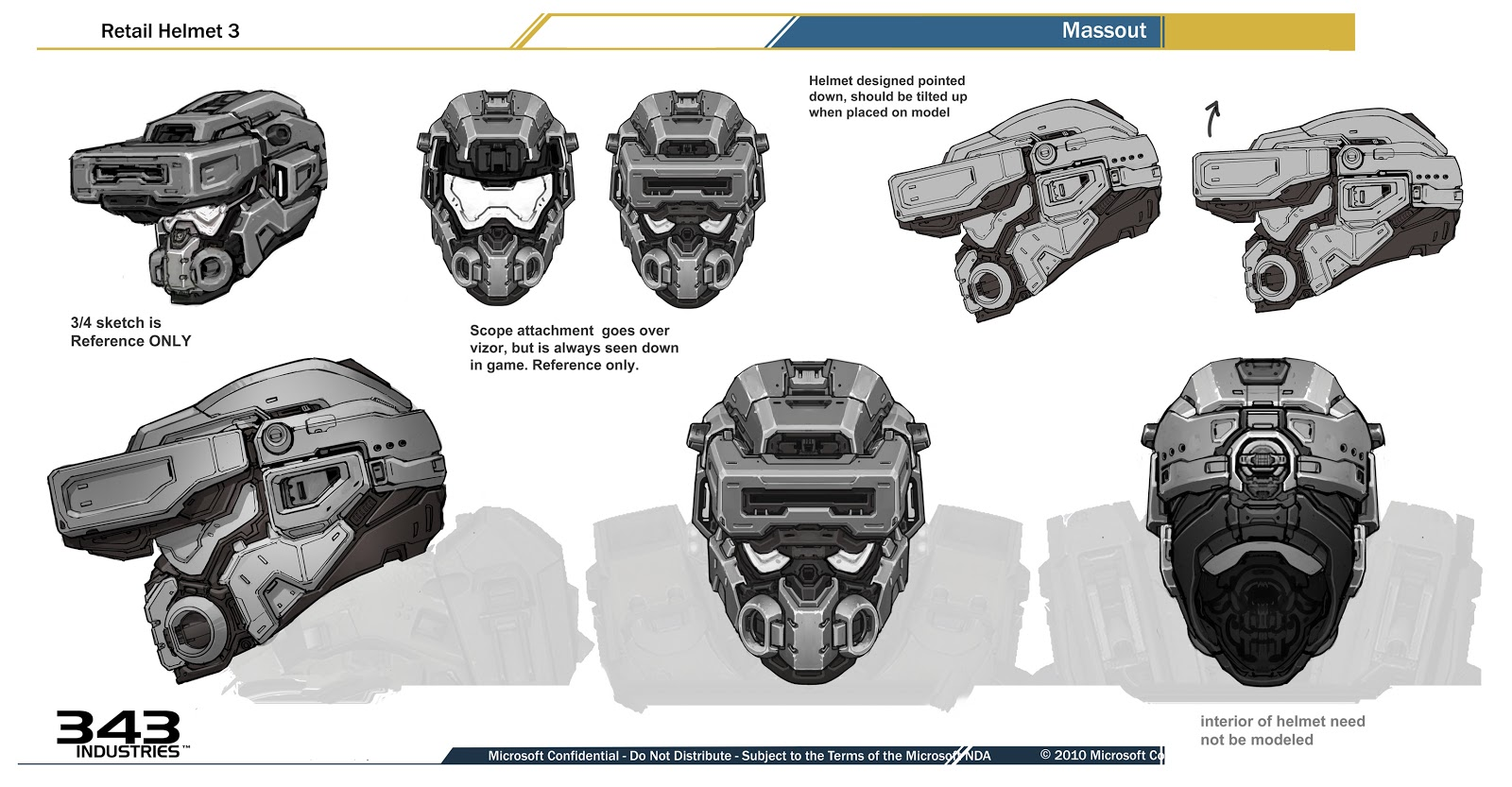 Images of Halo 4 Warrior Helmet Pepakura - www industrious info