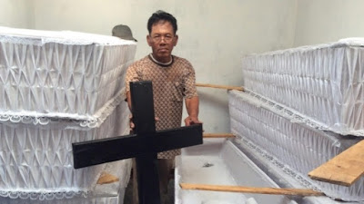 Java Christian Church has prepared 10 coffins for prisoners sentenced to death and awaiting execution in Indonesia last year.