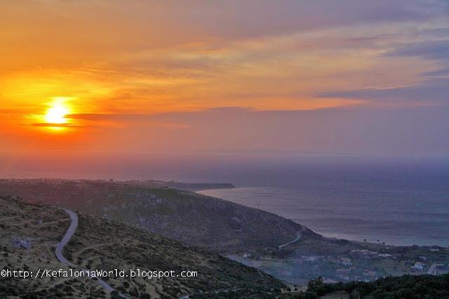 Sunrise over Katelios, Kefalonia
