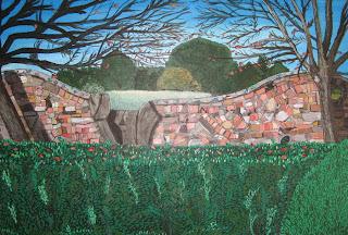 Wibbly-wobbly Wall in Tasma Gardens, Daylesford