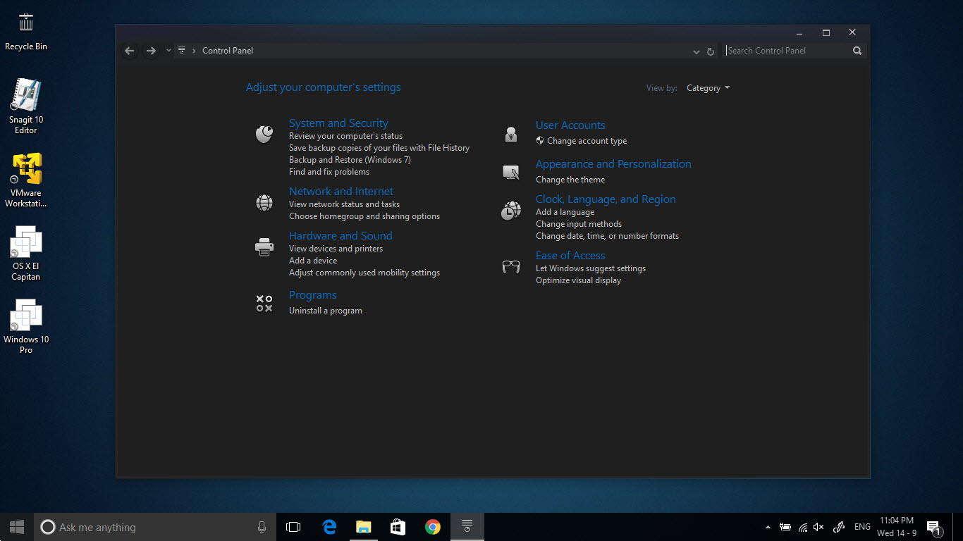 Steamy Blue dark theme for Windows 10 Anniversary Update